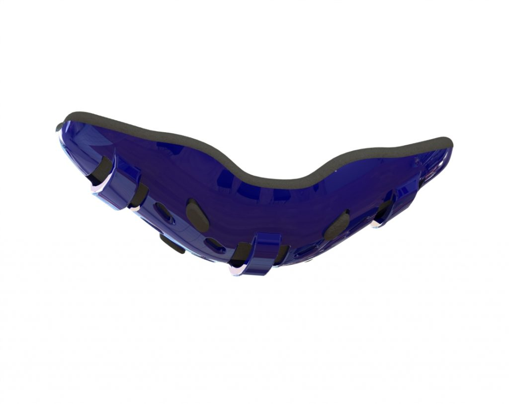 navy blue wrestling chin cup